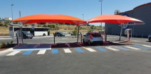 Tensile Structures Parking Drives